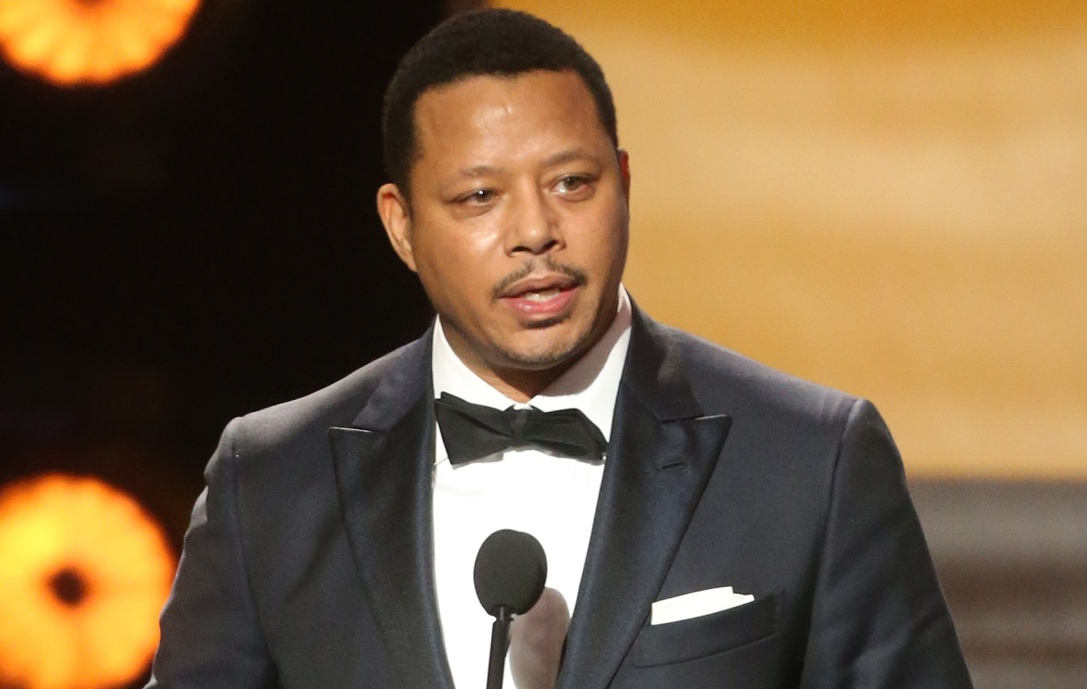 "PASADENA, CA - FEBRUARY 05:  Actor Terrence Howard accepts award for Outstanding Actor in a Drama Series for ""Empire' onstage during the 47th NAACP Image Awards presented by TV One at Pasadena Civic Auditorium on February 5, 2016 in Pasadena, California.  (Photo by Frederick M. Brown/Getty Images for NAACP Image Awards)"