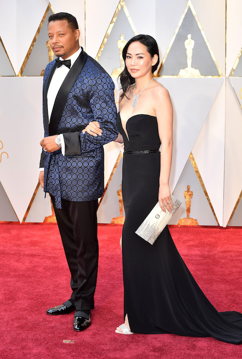 HOLLYWOOD, CA - FEBRUARY 26: Actor Terrence Howard (L) and Mira Pak attend the 89th Annual Academy Awards at Hollywood & Highland Center on February 26, 2017 in Hollywood, California. (Photo by Jeff Kravitz/FilmMagic)