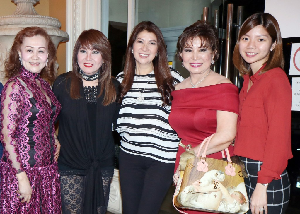 Baby Magtibay, Imelda Papin, Eileen Gonzales, Anita Kaw, Marge Gonzales
