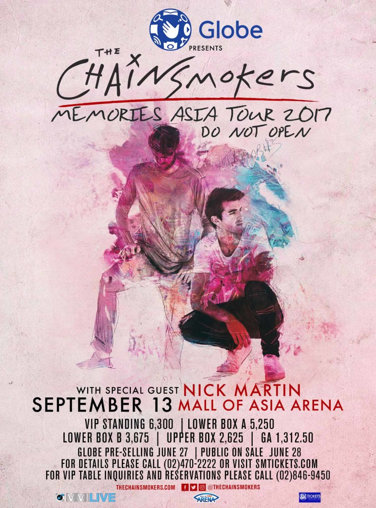 THECHAINSMOKER_MNL ticket prices 1706