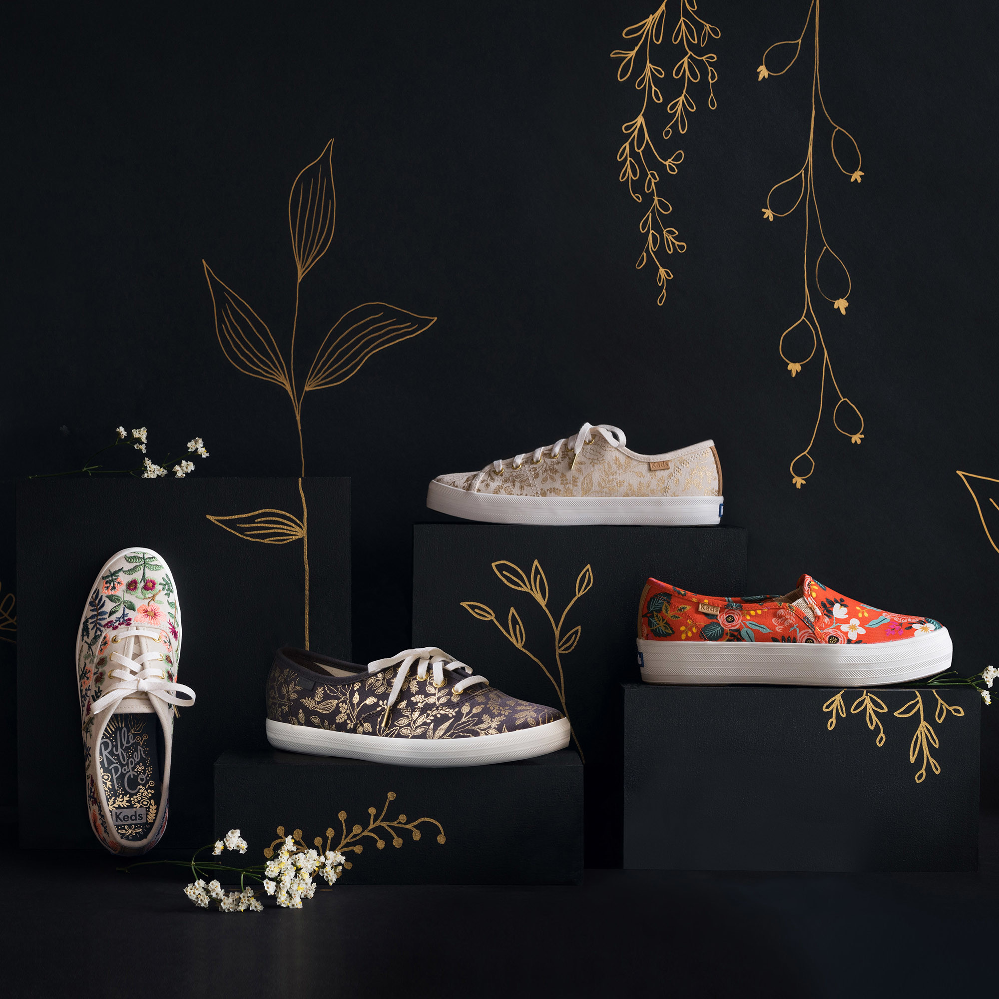 62cff612cc2 Power to the flower  Keds   Rifle Paper Co. release a new sneaker ...