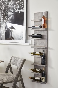 6-bottle wood wine rack 1