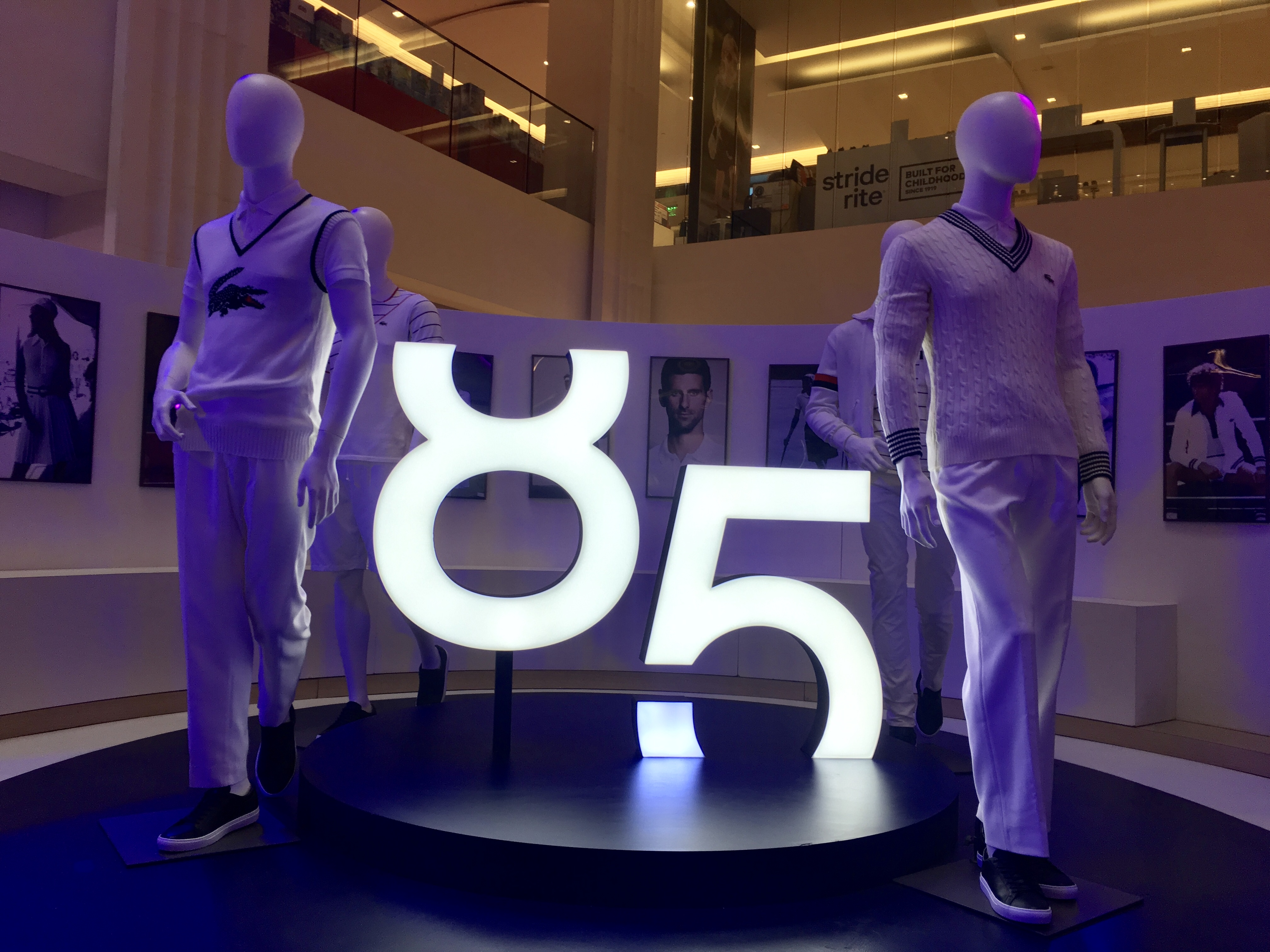 cb8704eaffb4 One of the main features of the Lacoste 85th anniversary exhibit at the  Central Mall